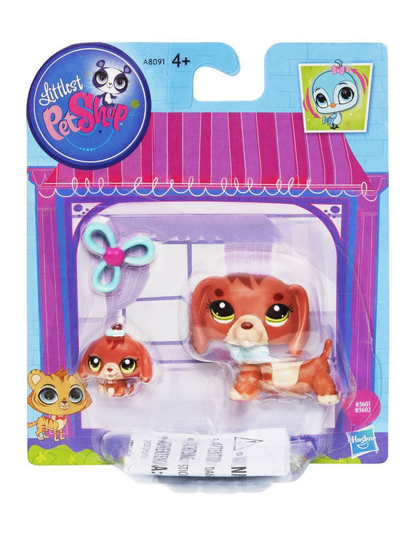 Littlest Pet Shop Figures Dachshund and Baby Dachshund