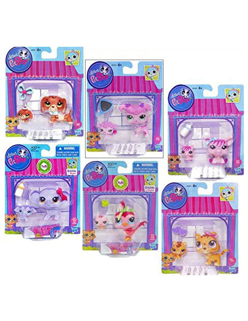 Littlest Pet Shop Figures Baby and Mommy Complete Set
