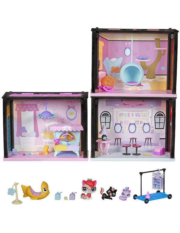 Littlest Pet Shop Playful Kitties Getaway Style Set - Exclusive Playset