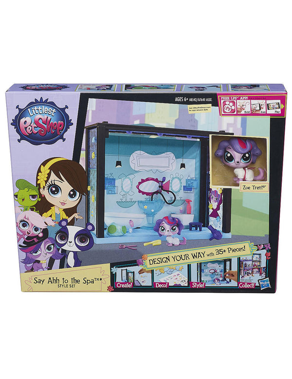 Littlest Pet Shop Say Ahh to the Spa Style Set - Design Your Room w/ 35+ Pieces!