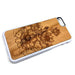 Lotus Flowers design1 iPhone Case Carved Engraved design on Real Natural Wood - For iPhone X/XS, 7/8, 6/6s, 6/6s Plus, SE, 5/5s, 5C, 4/4s
