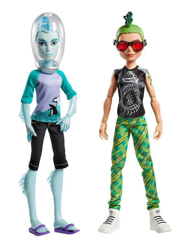 Monster High Mansters Gil Webber & Deuce Gorgon Dolls, 2-pack