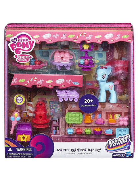 My Little Pony Rainbow Power Sweet Rainbow Bakery Set & Mrs. Dazzle Cake A8212