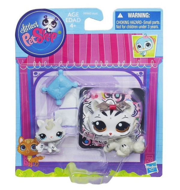 Littlest Pet Shop Figures White Tiger & Baby Tiger