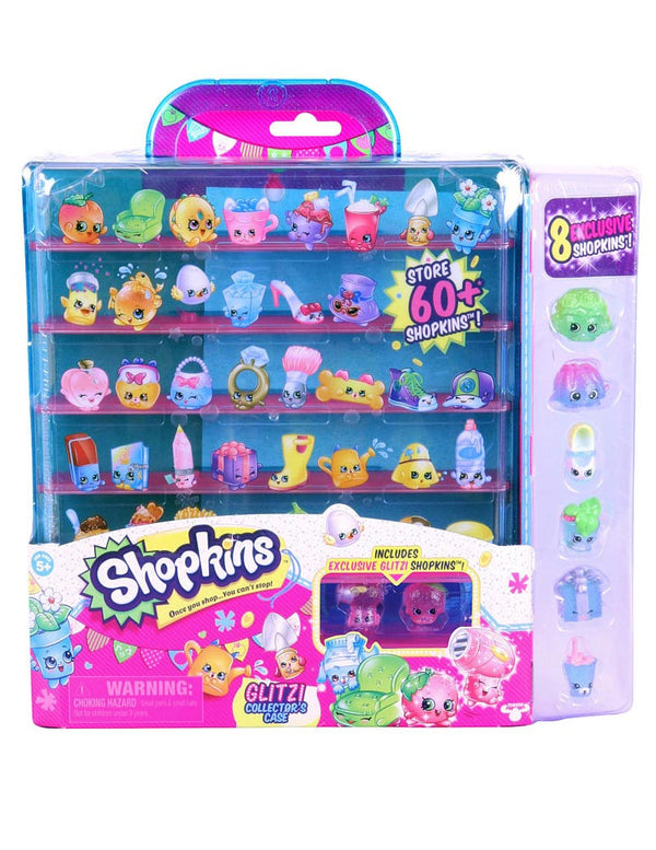 Shopkins Season 4 Glitter Collector Case - with 8 Exclusive Glitzi Shopkins!