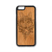 Tribal Wolf Boho iPhone Case Carved Engraved design on Real Natural Wood - For iPhone X/XS, 7/8, 6/6s, 6/6s Plus, SE, 5/5s, 5C, 4/4s