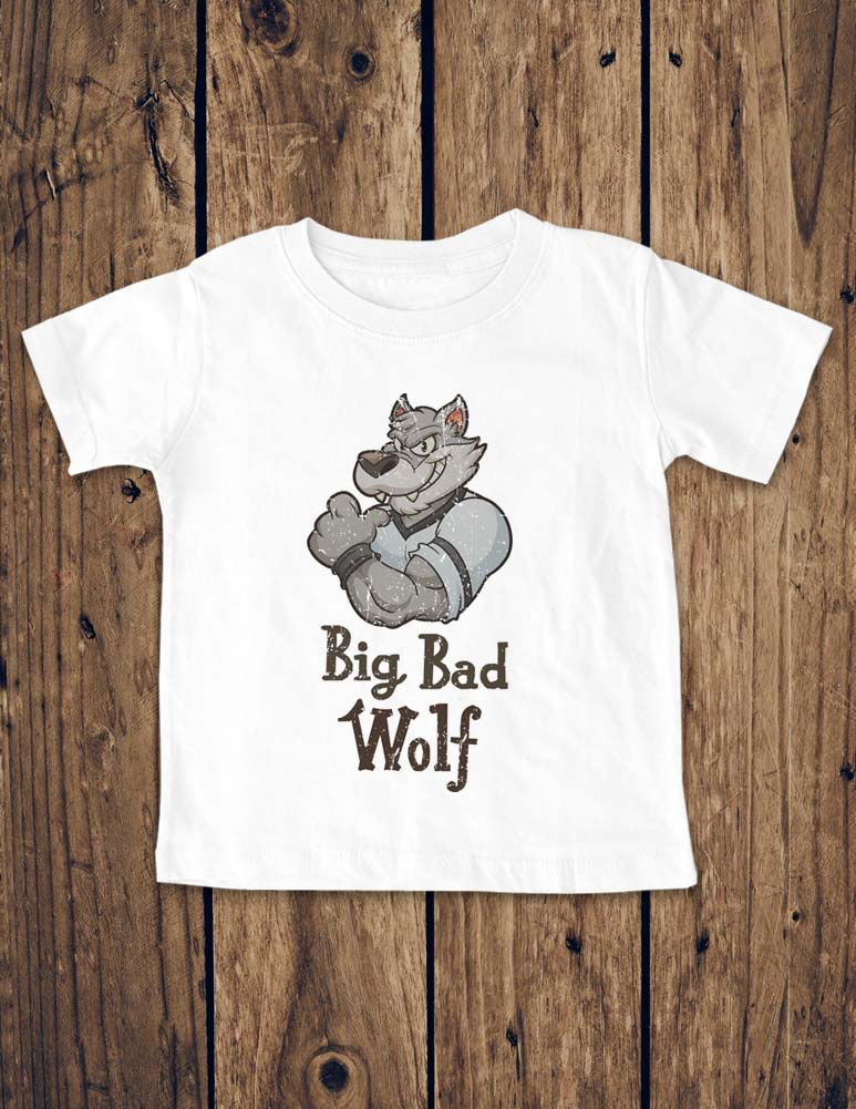 Big Bad Wolf - Baby One-piece bodysuit, Infant, Toddler, Youth Shirt