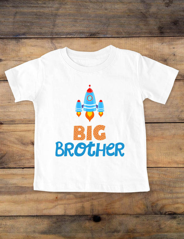 Big Brother Rocketship - Baby One-piece bodysuit, Infant, Toddler, Youth Shirt
