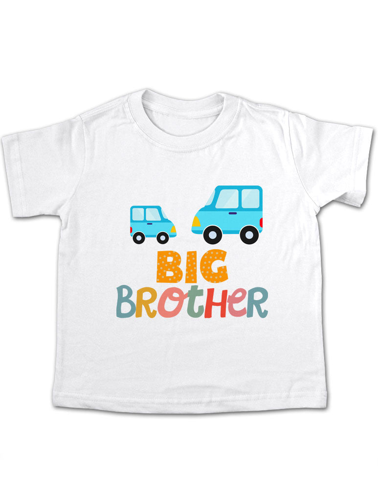 Big Brother Cars Design 1 Toddler Tee Shirt