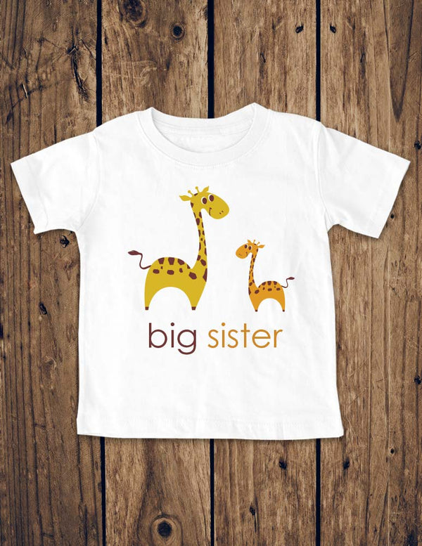 big sister giraffe design1 - Baby Birth Pregnancy Announcement Infant, Toddler, Youth Shirt