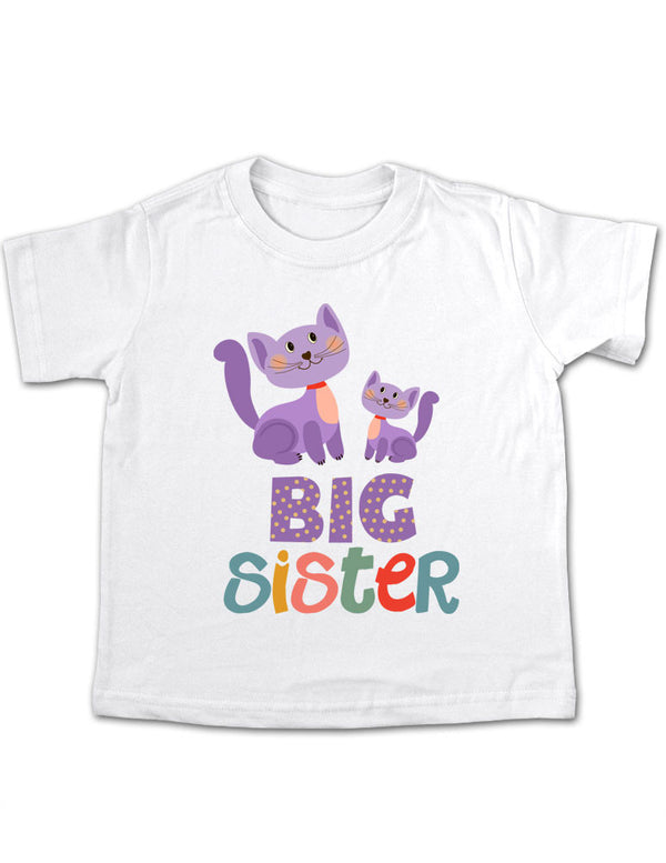 Big Sister Cats Design 2 Toddler Tee Shirt