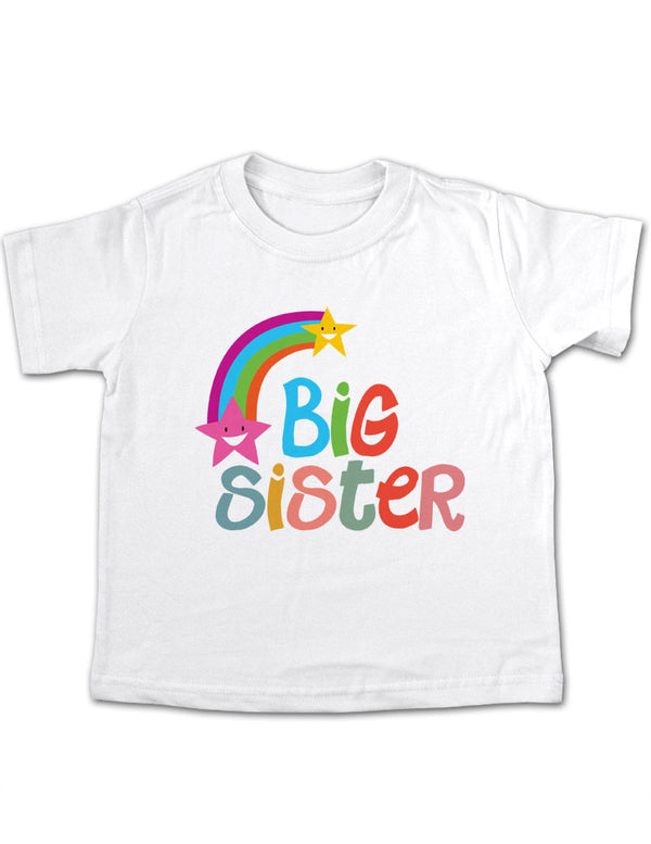 Big Sister Rainbow Design Toddler Tee Shirt
