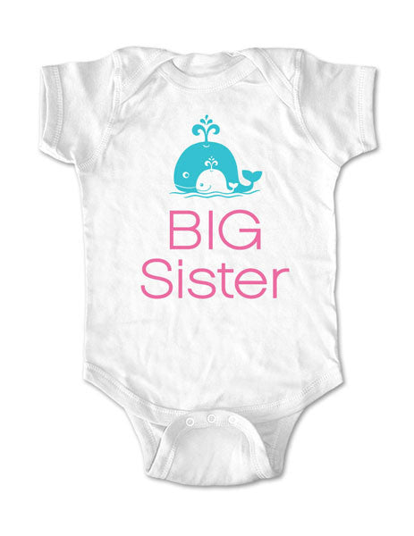 Big Sister Whales Design 2 - Baby Birth Pregnancy Announcement Infant, Toddler, Youth Shirt