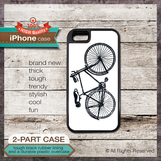Bike Design 1 - Choose from iPhone 4/4S, 5/5S, 5C, Samsung Galaxy S3 or S4 Case