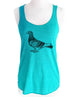 Bird 31 Pigeon Graphic - Soft Tri-Blend Racerback Tank