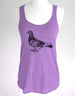 Bird 31 Pigeon Graphic - Soft Eco-Heather Racerback Tank for Women