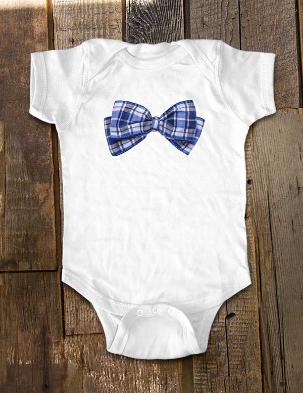 Blue Bow Tie 21 - Baby One-Piece Bodysuit, Infant, Toddler, Youth Shirt