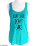 Boat Hair Don't Care (design1) - Soft Tri-Blend Racerback Tank