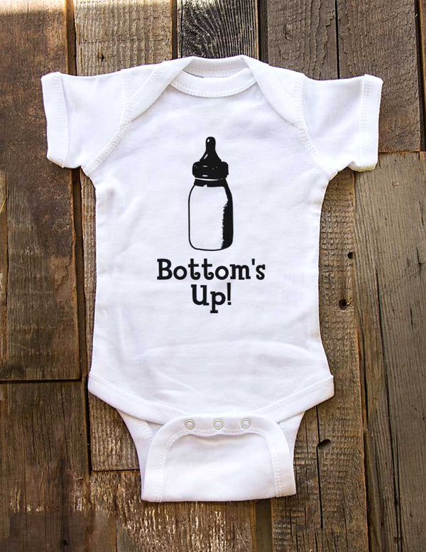 Bottom's Up - Cute and Funny Baby One-Piece Bodysuit, Infant, Toddler Shirt