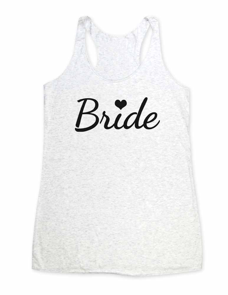 Bride - Soft Tri-Blend Racerback Tank - Fitness workout gym exercise tank