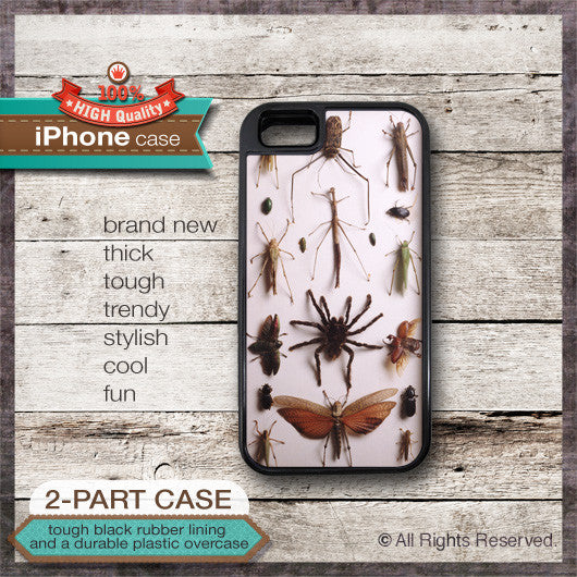 Bug Collection Design - Choose from iPhone 4/4S, 5/5S, 5C, Samsung Galaxy S3 or S4 Case