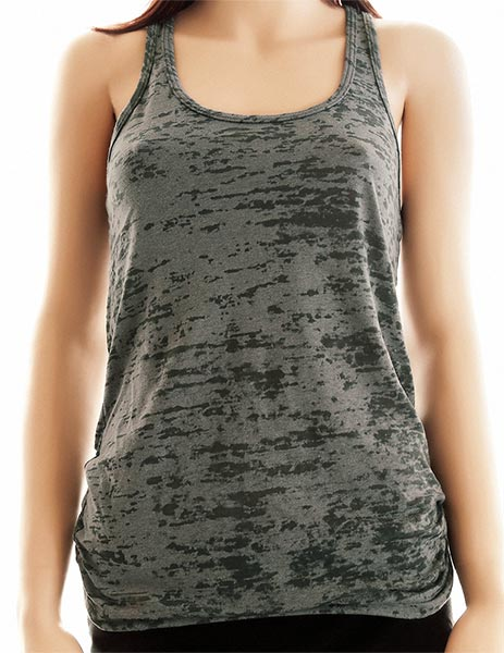Choose Any Design from our Shop - printed on Ladies' Burnout Racerback Workout Tank Top - birthday gift for her