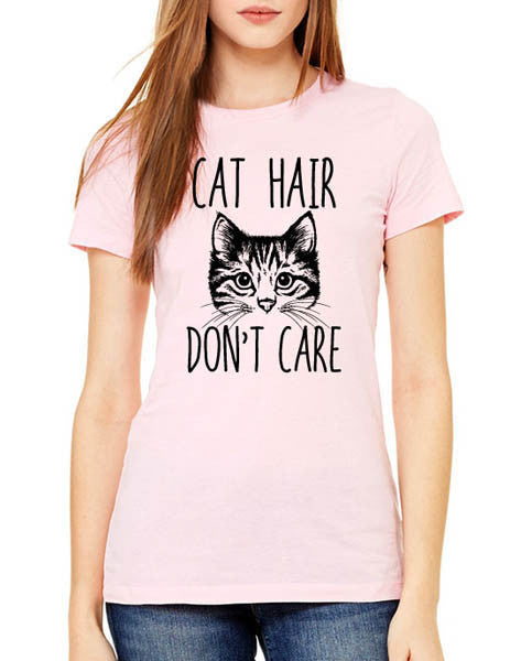 Cat Hair Don't Care (design4) - Women & Men Shirt