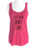 Cat Hair Don't Care (design1) - Soft Tri-Blend Racerback Tank