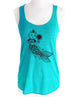 Cat Mermaid - Soft Tri-Blend Racerback Tank