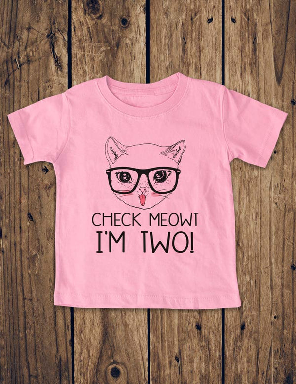 Check Meowt I'm TWO! Cat Design - Baby One-Piece Bodysuit, Infant, Toddler Shirt