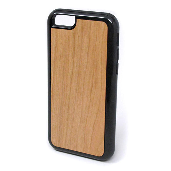 Cherry Wood iPhone Case Carved Engraved design on Real Natural Wood - For iPhone X/XS, , 7/8, 6/6s, 6/6s Plus, SE, 5/5s, 5C, 4/4s