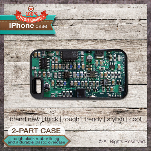 Circuit Board 1 - Choose from iPhone 4/4S, 5/5S, 5C, Samsung Galaxy S3 or S4 Case