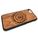 Compass design iPhone Case Carved Engraved design on Real Natural Wood - For iPhone X/XS, 7/8, 6/6s, 6/6s Plus, SE, 5/5s, 5C, 4/4s