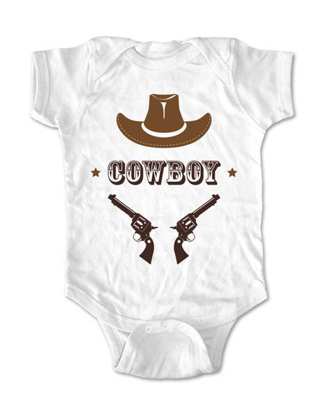 Cowboy with a Hat and Guns - Baby One-Piece Bodysuit, Infant, Toddler, Youth Shirt