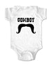 Cowboy with Mustache - Baby One-Piece Bodysuit, Infant, Toddler, Youth Shirt