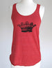 Crown design 15 ladies tank top- Soft Eco-Heather Racerback Tank for Women