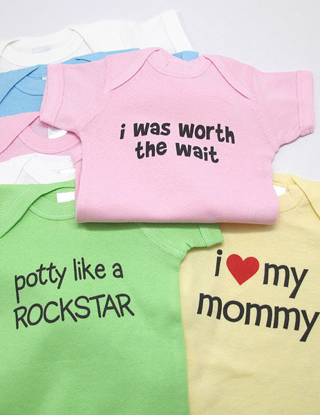 Custom with YOUR FUNNY SAYING baby one piece bodysuit, Infant Tee, Toddler and Youth T-Shirts