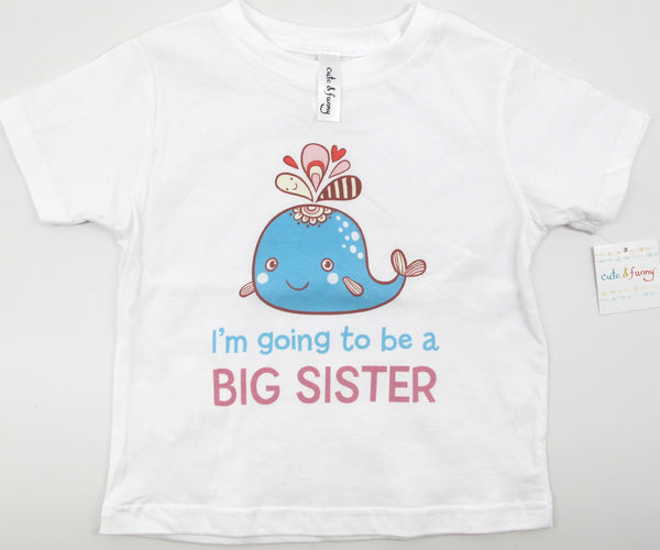 I'm going to be a Big Sister - Whale design 3 - Baby One-Piece Bodysuit, Infant, Toddler Shirt
