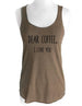 Dear Coffee, I Love You - Soft Tri-Blend Racerback Tank