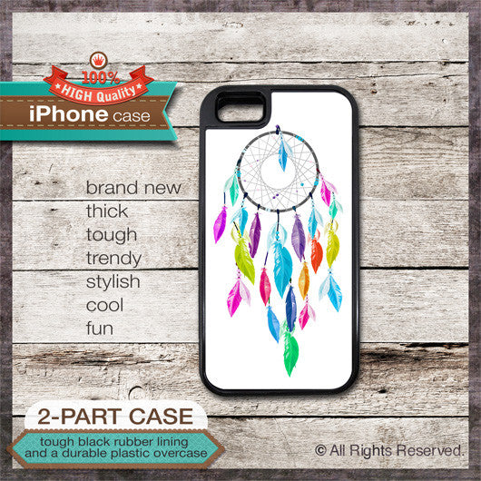 Dreamcatcher Native American Design 1 - Choose from iPhone 4/4S, 5/5S, 5C, Samsung Galaxy S3 or S4 Case