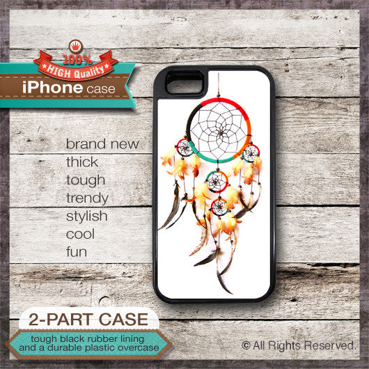 Dreamcatcher Native American Design 3 - Choose from iPhone 4/4S, 5/5S, 5C, Samsung Galaxy S3 or S4 Case