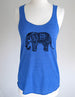 Elephant Indian design 3 ladies tank top- Soft Eco-Heather Racerback Tank for Women