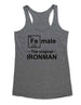 Female The original IRONMAN - Soft Tri-Blend Racerback Tank - Fitness workout gym exercise tank