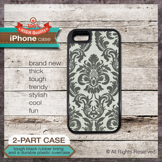 Floral Damask Design 1 - Choose from iPhone 4/4S, 5/5S, 5C, Samsung Galaxy S3 or S4 Case