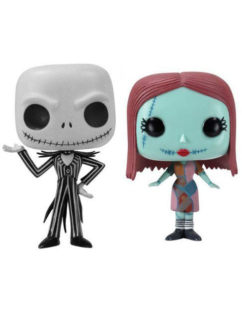 "Nightmare Before Christmas Jack Skellington & Sally Funko 3.75"" POP VINYL FIGURE SET"