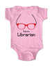 Future Librarian with Eyeglasses - Baby One-Piece Bodysuit, Infant, Toddler, Youth Shirt