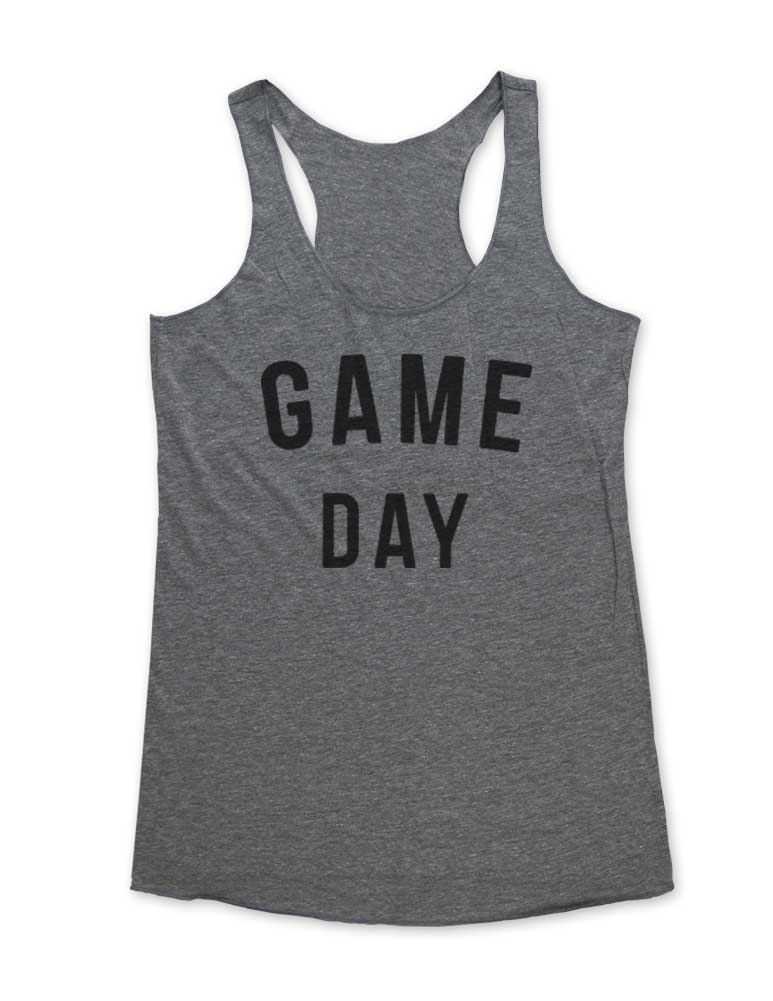 Game Day - Soft Tri-Blend Racerback Tank - Fitness workout gym exercise tank
