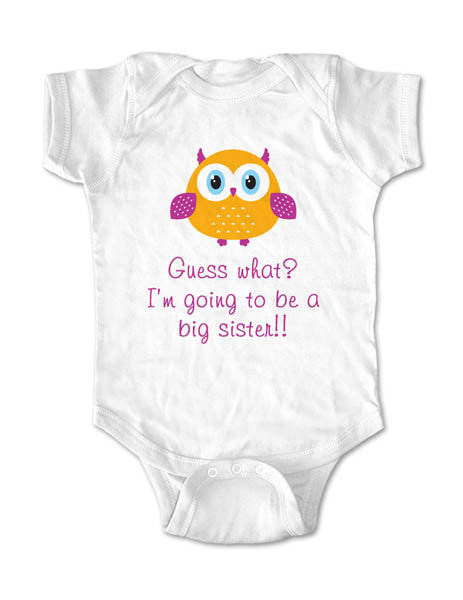 Guess what? I'm going to be a big sister!!! Birth Pregnancy Announcement - Infant, Toddler, Youth Shirt