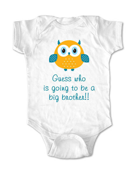 Guess who is going to be a big brother!!! Birth Pregnancy Announcement - Infant, Toddler, Youth Shirt