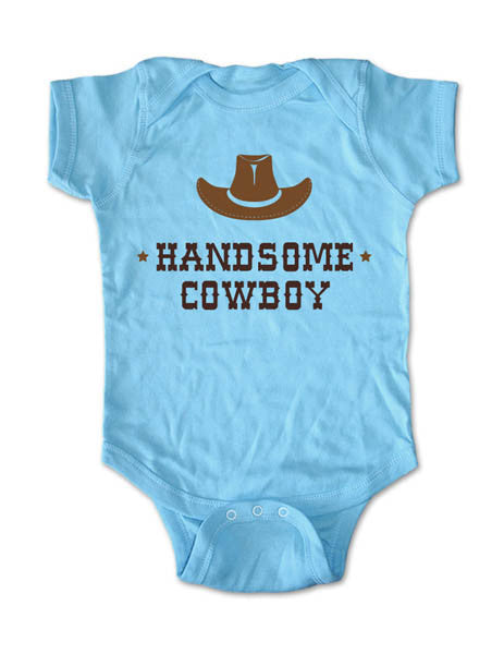 Handsome Cowboy with a Hat - Baby One-Piece Bodysuit, Infant, Toddler, Youth Shirt